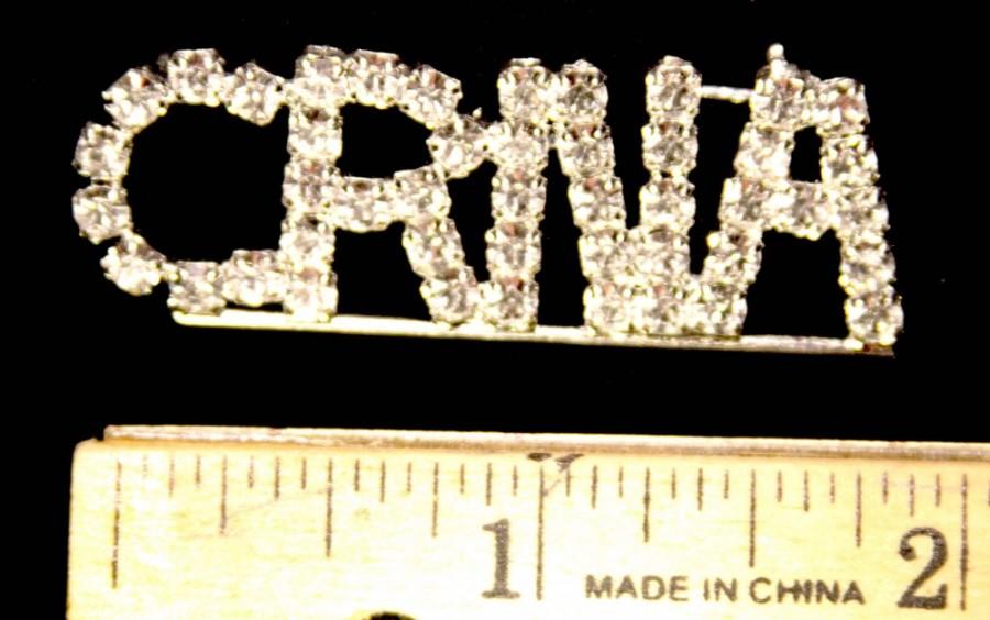 CRNA Custom Crystal Rhinestone Pin
